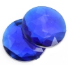 Acrylic 9mm Round Facet Royal Blue